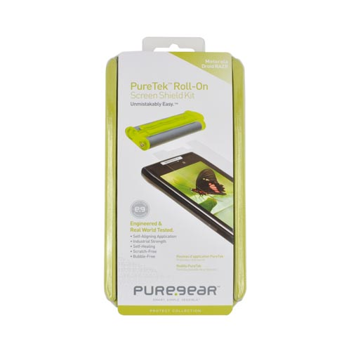 Original PureGear Motorola Droid RAZR (& RAZR MAXX) PureTek Roll-On Screen Protector Kit - Clear
