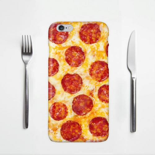 [Pizza] Custom Printed Heat Sublimation Design Hard Plastic Case Cover for Apple iPhone 6 w/ Free Screen Protector!