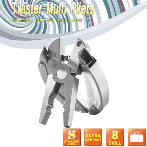 Universal Steel Multi-Function Pocket Folding Portable Plier Tool Set w/ Keychain Hoop And Pouch