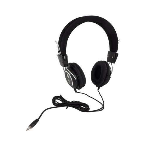 Original Luxmo Platinum Beat Bass Headphones w/ Ear Cushions (3.5mm), PLTBEATBBK - Black/ Silver