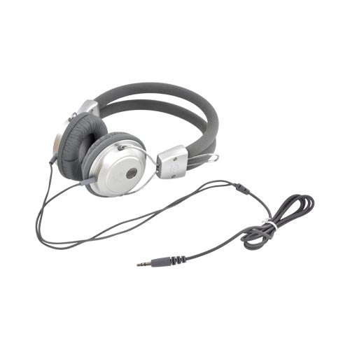 Original Luxmo Platinum Beat Bass Headphones w/ Ear Cushions (3.5mm), PLTBEATBSL - Silver