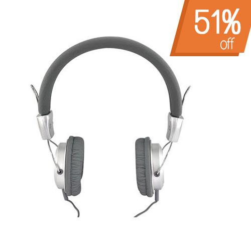 Original Luxmo Platinum Beat Bass Universal Headphones w/ Ear Cushions (3.5mm), PLTBEATBSL - Silver