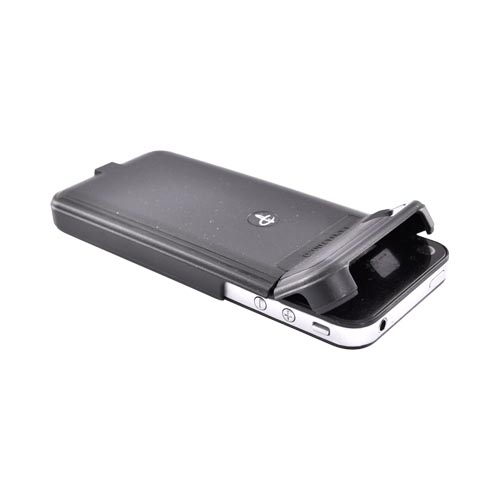 Original Powermat Verizon/AT&T Apple iPhone 4, iPhone 4SCharging Case w/ Mat, PMM-1P4-B19 - Black