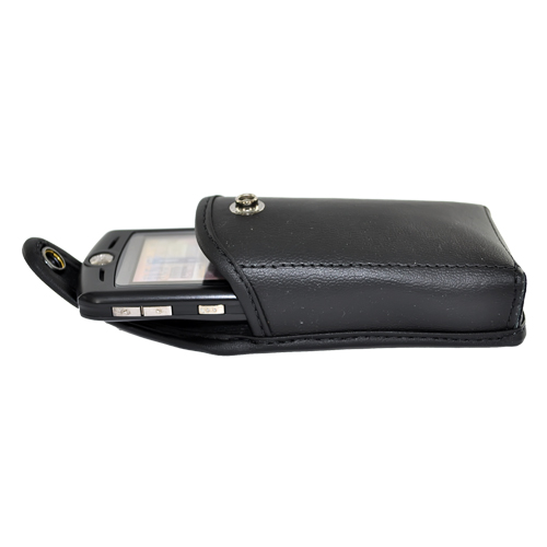 Original TurtleBack Genuine Leather Pouch w/ Swivel Belt Clip Medium Sized Bar Phones- Black (BS, BM)