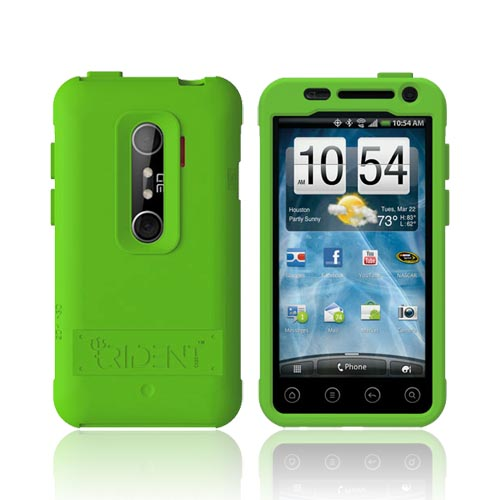 Original Trident Perseus HTC EVO 3D Impact-Resistant Silicone Case, PS-EVO-3D-GR - Lime Green