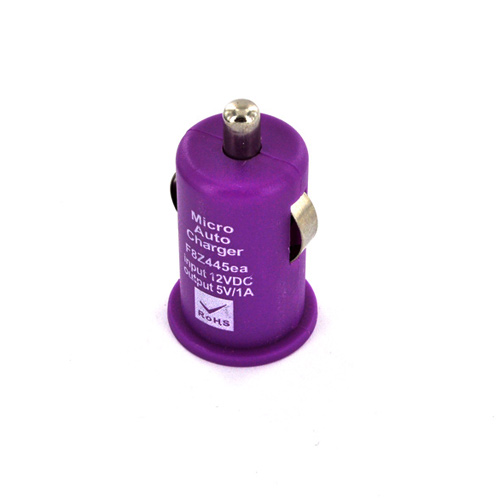 Micro USB Playful Purple Charging Bundle w/ Purple Micro USB Charge/ Sync Data Cable, Purple USB Car Charger Adapter, & Purple Plunger Stand