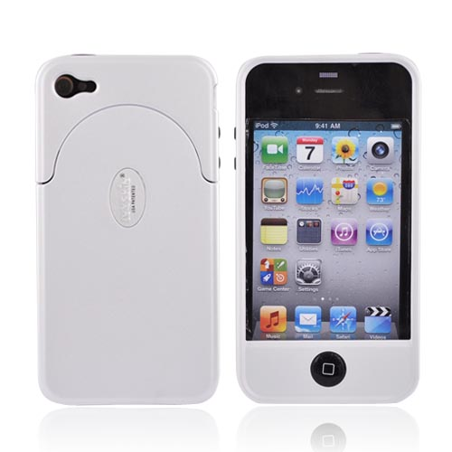 Original IvySkin AT&T Apple iPhone 4 Quattro 4 Hard Case, Q4-ALPINE - White