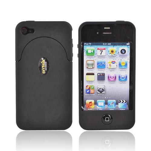 Original IvySkin AT&T Apple iPhone 4 Quattro 4 Rubberized Hard Case, Q4-JET - Black