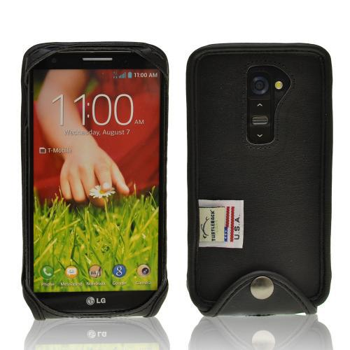 LG Black Turtleback Ranger Genuine Leather Case W/ Steel ...