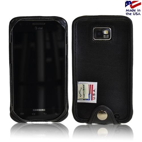 Black Turtleback Ranger Genuine Leather Case w/ Steel Swivel Belt Clip & Holster Combo for AT&T Samsung Galaxy S2