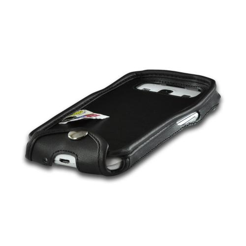 Turtleback Black Leather Pouch w/ Heavy Duty Steel Swivel Belt Clip & Holster Combo for Samsung Galaxy S3