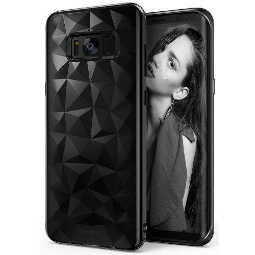 Galaxy S8 Plus Case, Ringke [AIR PRISM] 3D Pyramid Stylish Diamond Pattern Flexible Jewel-Like Textured Protective TPU Cover for Samsung Galaxy S8 Plus - Ink Black
