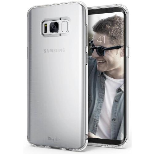 Galaxy S8 Case, Ringke [Air Series] Extreme Featherweight Flexible TPU Sturdy & Vital Protective Skin Cover for Samsung Galaxy S8 [Clear]