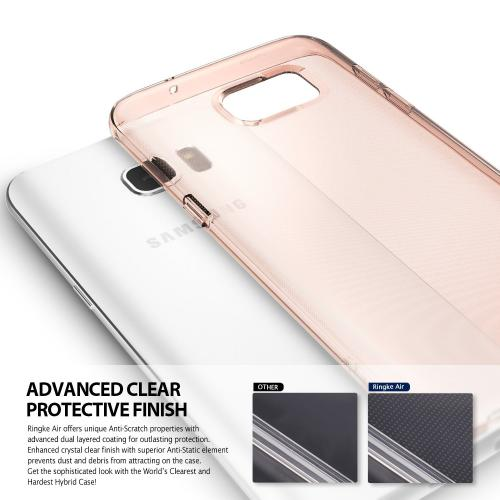 Samsung Galaxy S7 Edge Case, Ringke [AIR][Rose Gold Crystal] Extreme Lightweight Soft Flexible TPU Case
