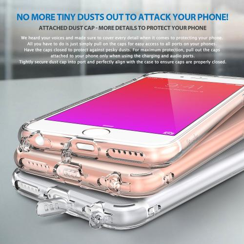 Apple iPhone 6S / 6 Case, Ringke® [AIR] Extreme Lightweight Ultra-Thin TPU Case - Rose Gold Crystal