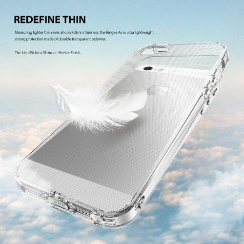 Apple iPhone SE / 5 / 5S Case, Ringke [Clear View] AIR Series Extreme Lightweight Ultra-Thin Flexible TPU Case