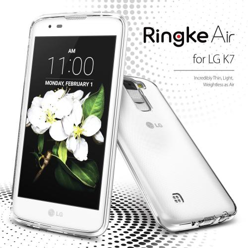 LG K7 / Tribute 5 Case, Ringke [Smoke Black] AIR Series Ultra-Thin Lightweight TPU Flexible Case