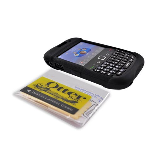 Original Otterbox Blackberry Curve 3G 9330, 9300, 8520, 8530 Impact Series Silicone Soft Case - Black RBB1-8500S-20
