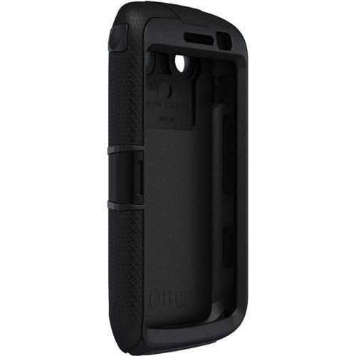 Original Otterbox Defender Series Blackberry Torch 9860, 9850 Silicone Over Hard Case w/ Built-In Screen Protector & Holster, RBB2-TRC98-20-E4OTR - Black