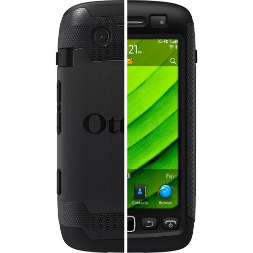 Original Otterbox Commuter Series Blackberry Torch 9860, 9850 Hard Cover Over Silicone Case w/ Screen Protector, RBB4-TRC98-20-E4OTR - Black