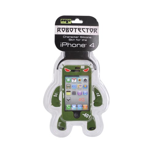 Original Nugo Labs Robotector iPhone 4 Silicone Case - Army Green Greg