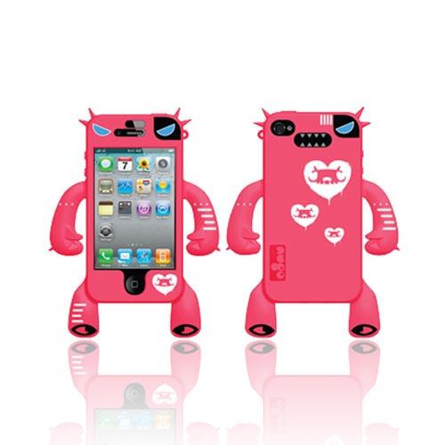 Original Nugo Labs Robotector AT&T/ Verizon Apple iPhone 4, iPhone 4S Silicone Case - Hot Melon Mary