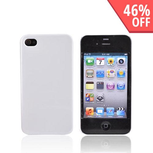 Original IvySkin Color AT&T Apple iPhone 4 Hard Reception Case w/ Screen Protectors, RC-AVALANCHE - White