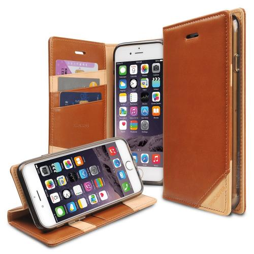 Ringke Brown DISCOVER Series Premium Leather Wallet Case for Apple iPhone 6
