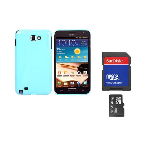 Original Rearth Bundle w/ Samsung Galaxy Note Ringke Mint Slim Hard Case w/ Screen Protector & 8GB Micro SDHC Memory Card w/ SD Card Adapter