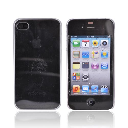 Original IvySkin AT&T Apple iPhone 4 Hard Reception Case w/ Screen Protectors, RECEPTION-4 - Transparent Clear