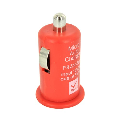 Micro USB Rad Red Charging Bundle W/ Red Micro USB Charge/ Sync Data Cable, Red USB Car Charger Adapter, and Red Plunger Stand