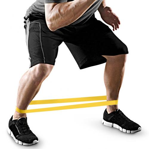 Tension Resistance Band Exercise Loop Band [Yellow] - Minimum Resistance Level