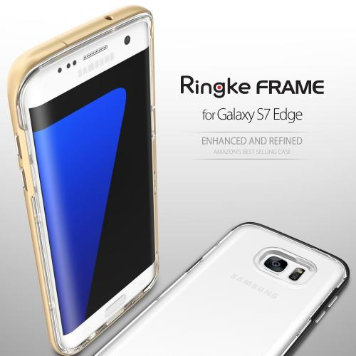 Galaxy S7 Edge - [FRAME] Drop Protection Clear Soft Shock Absorption Protection Bumper