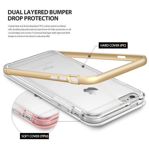 [Apple iPhone 6/6S] Bumper Case, Ringke [Frost Gray] FRAME Drop Protection Clear Soft Shock Absorption Protection Bumper Case