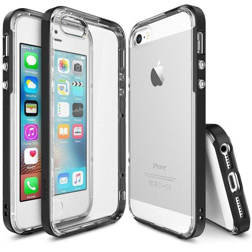 [Apple iPhone SE/5/5S] Ringke Case, Ringke [Black] FRAME Drop Protection Clear Soft Shock Absorption Protection Bumper Case