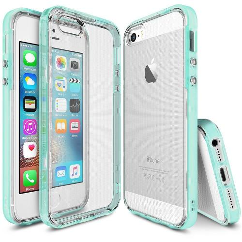 [Apple iPhone SE/5/5S] Ringke Case, Ringke [FrostMint] FRAME Drop Protection Clear Soft Shock Absorption Protection Bumper Case