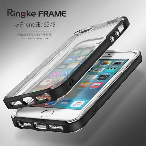 [Apple iPhone SE/5/5S] Ringke Case, Ringke [FrostPink] FRAME Drop Protection Clear Soft Shock Absorption Protection Bumper Case