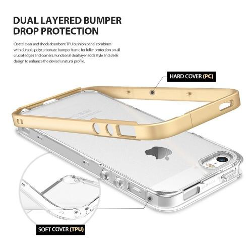 Ringke Case, Ringke [Royal Gold] FRAME Drop Protection Clear Soft Shock Absorption Protection Bumper Case