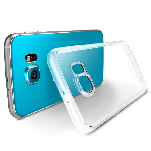 [Samsung Galaxy S6] Case, Ringke [Clear] FLEX Series Featuring Flexible Crystal Silicone TPU w/ Free Screen Protector