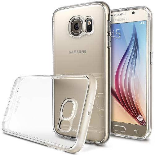 Galaxy S6 Case, Ringke [Crystal View] FLEX Flexible n Strong TPU Case [Free HD Screen Protector] - Protective Crystal Silicone Flexible TPU Skin Case for Samsung Galaxy S6 - Retail Packaging