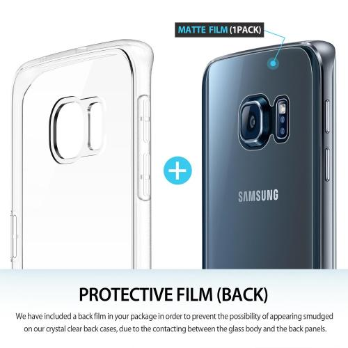[Samsung Galaxy S6 Edge] Case, Ringke [Clear] FLEX Series All Around Protection Better Grip Flexible and Strong TPU Case w/ Free Screen Protector