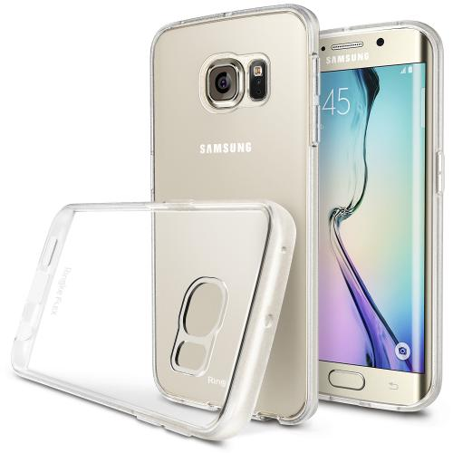Samsung Galaxy S6 Edge Case, Ringke [Clear View] FLEX Series All Around Protection Better Grip Flexible and Strong TPU Case w/ Free Screen Protector