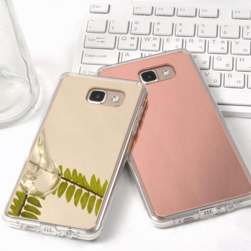 [Samsung Galaxy A3 2016] Case, RINGKE [FUSION MIRROR] Rose Gold
