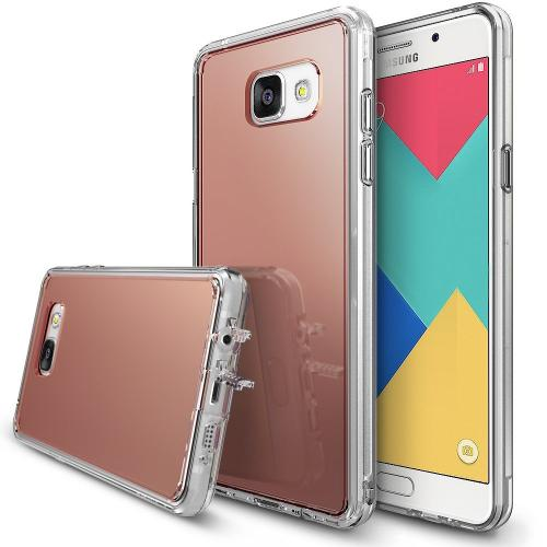 [Samsung Galaxy A9 2016] Case, RINGKE [FUSION MIRROR] Rose Gold