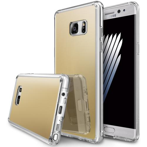 Samsung Galaxy Note 7 Case, [FUSION MIRROR] Bright Reflection Radiant Luxury Mirror Case [Royal Gold]