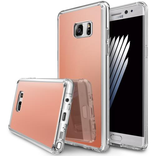 Samsung Galaxy Note 7 Case, [FUSION MIRROR] Bright Reflection Radiant Luxury Mirror Case [Rose Gold]