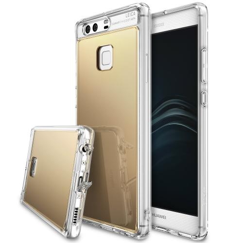 [Huawei P9], [FUSION MIRROR] Bright Reflection Radiant Luxury Mirror Case [Royal Gold]