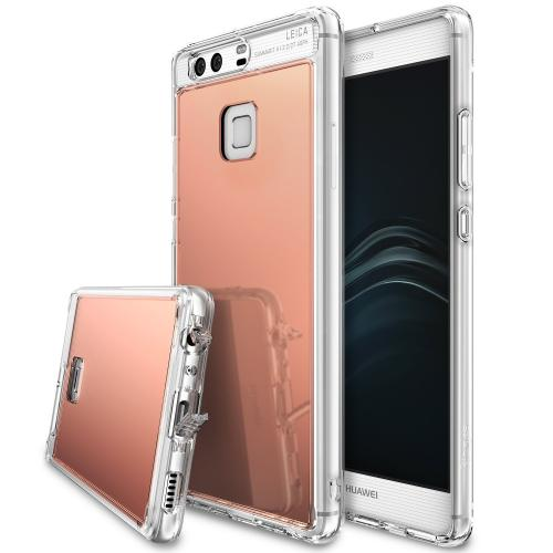 [Huawei P9], [FUSION MIRROR] Bright Reflection Radiant Luxury Mirror Case [Rose Gold]