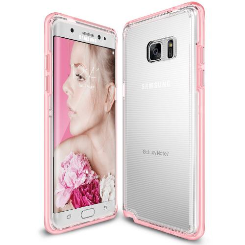 Samsung Galaxy Note 7  Case, Ringke [Frost Pink] FRAME Clear Back Shock Absorption Protection Bumper