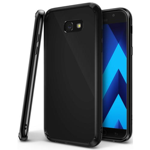 Samsung Galaxy A7 2017 Case, Ringke [FUSION] Tough PC Back TPU Bumper Drop Protection Cover - Shadow Black